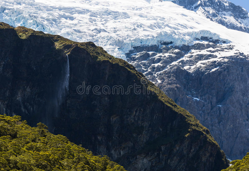 Majestueuze mening van Rob Roy Glacier royalty-vrije stock afbeelding