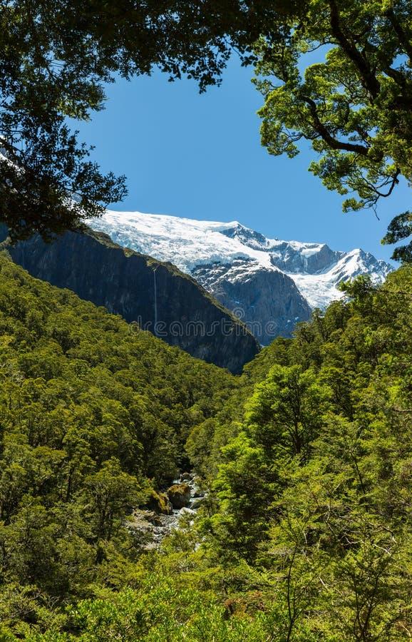 Majestueuze mening van Rob Roy Glacier royalty-vrije stock foto's