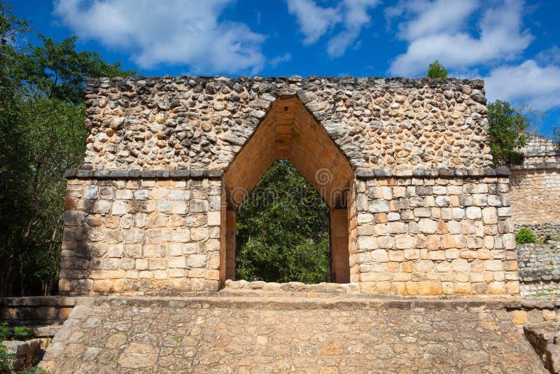 Majestueuze ruïnes in Ek Balam Yucatà ¡ n, Mexico stock fotografie