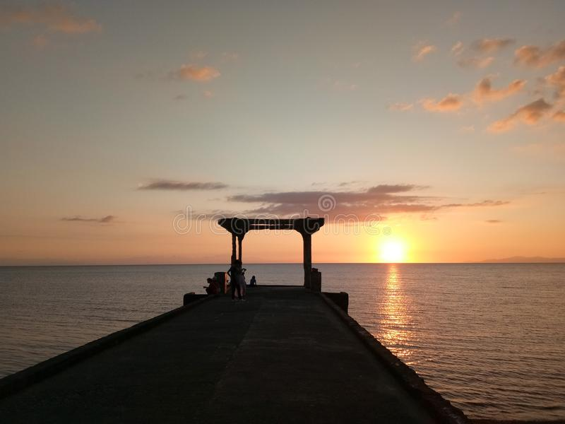 Majestueuze zonsondergang stock fotografie