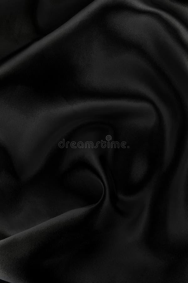 Majestueuze zwarte textielachtergrond stock foto