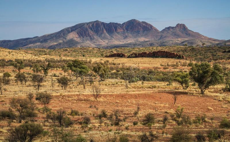 Majestuous Mt Sonder, terytorium północne, Australia fotografia stock