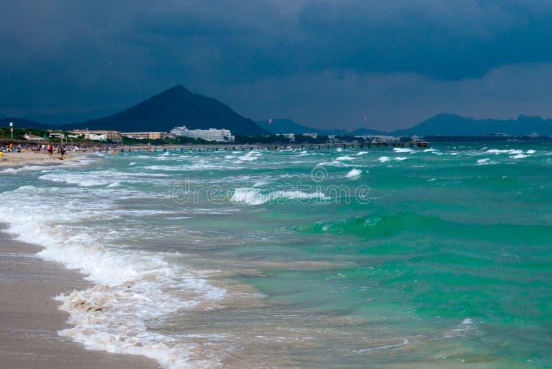 majocra plażowy morze śródziemnomorskie obraz royalty free