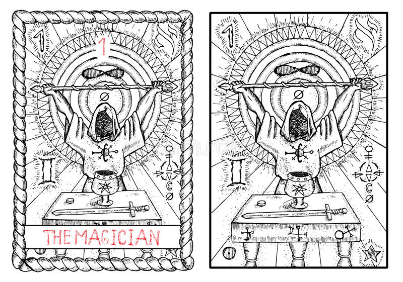 Magician Tarot Stock Illustrations – 493 Magician Tarot Stock