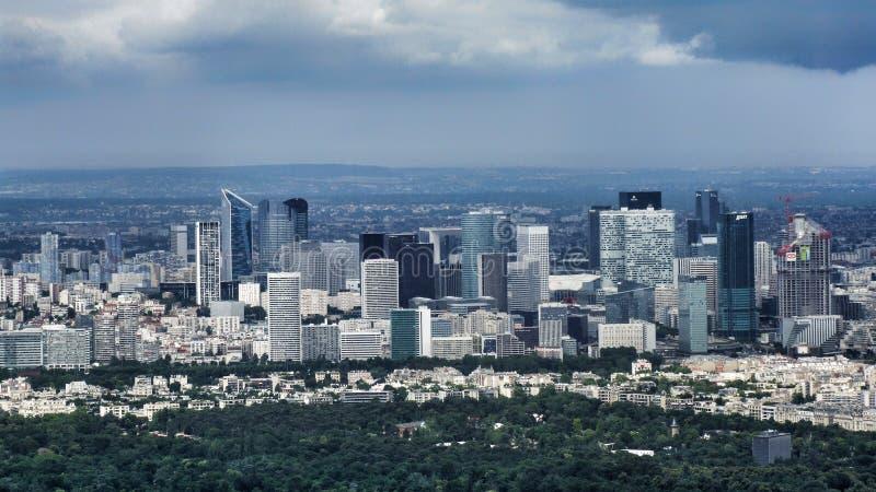 Urban landscape of La Defense district in Paris stock photos