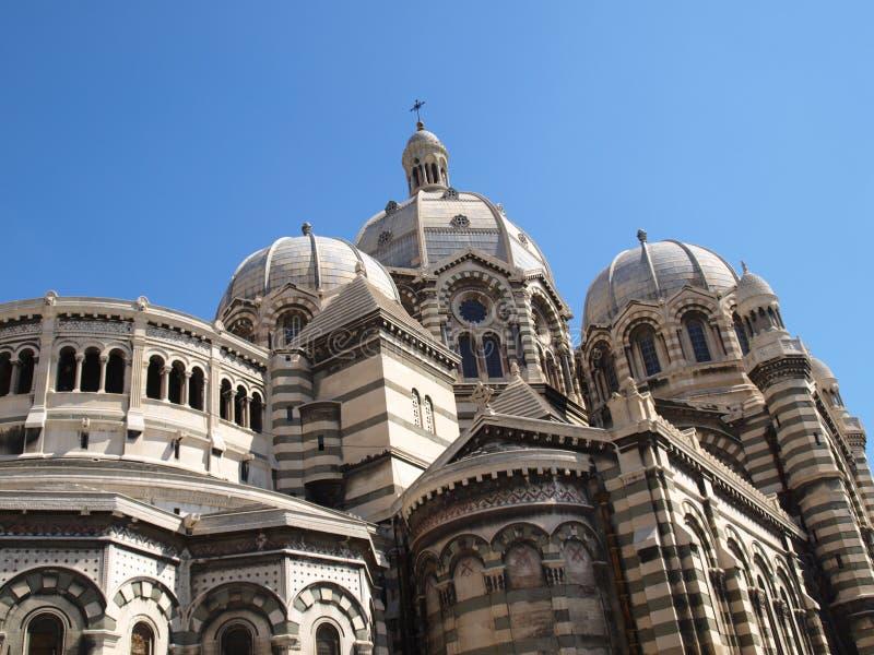 Major catedral do La de Marselha imagem de stock royalty free