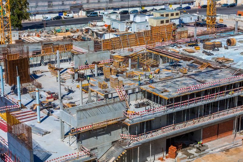 Major Construction in Lissabon stock foto's