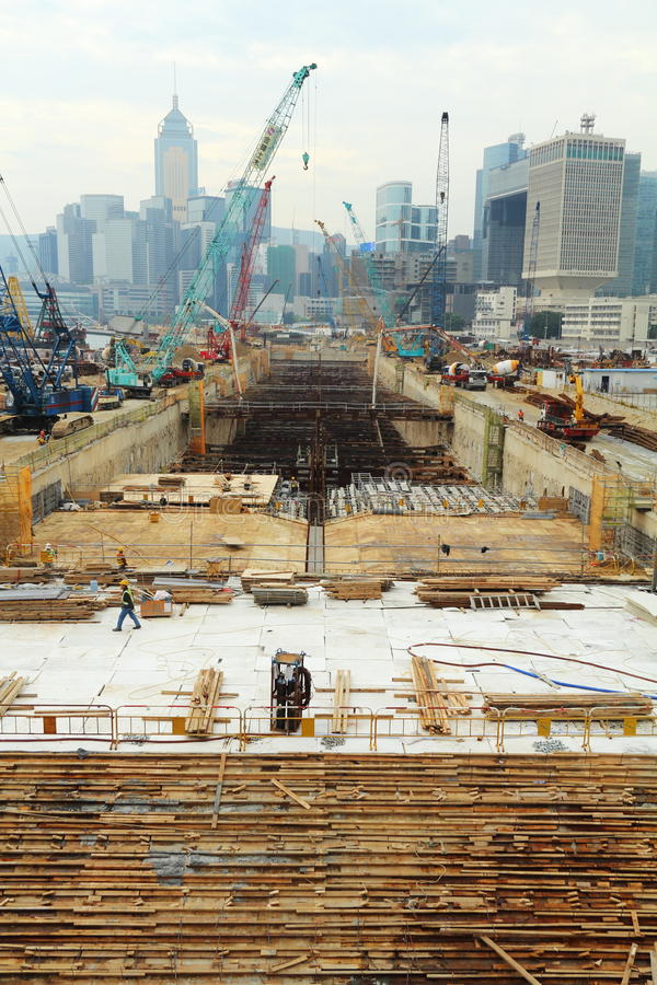 Download Major Construction Site In Hong Kong Editorial Stock Photo - Image: 18996313