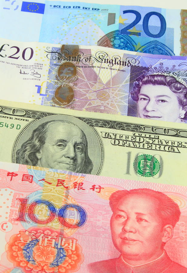 Free Major Currencies Royalty Free Stock Images - 24654549