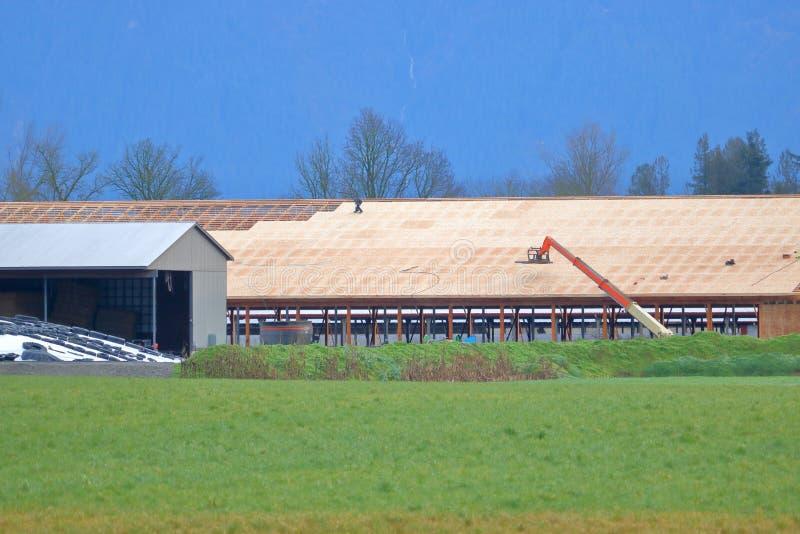 Major farm building under construction royalty free stock photography