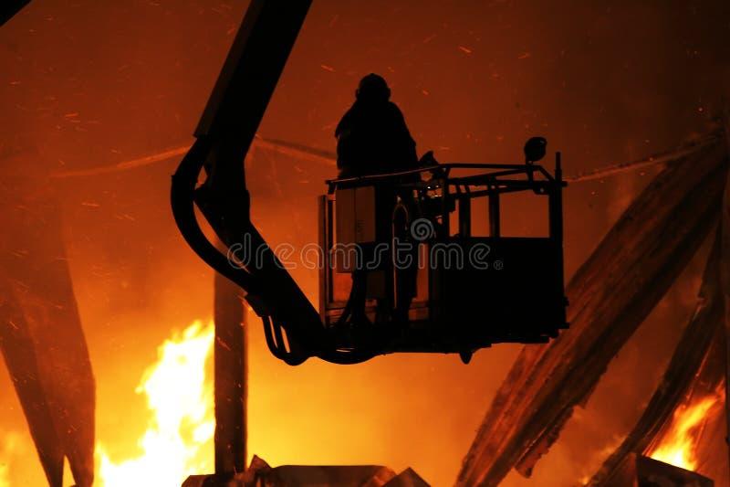 Major fire stock photos