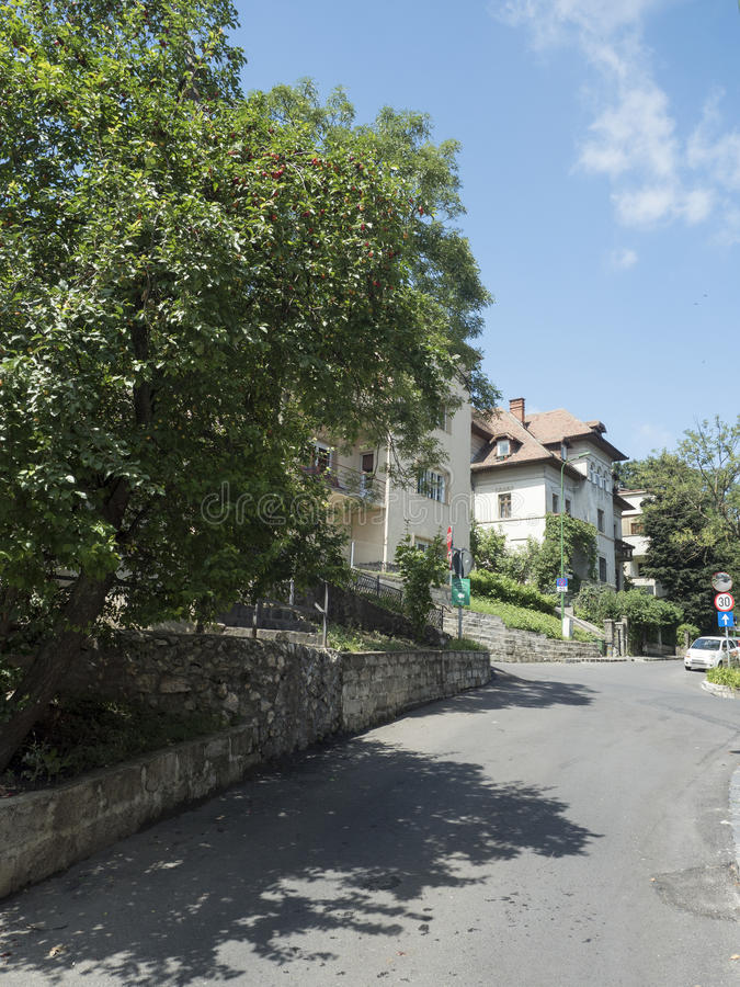 Major Ion Cranta street in Brasov, Romania royalty free stock images