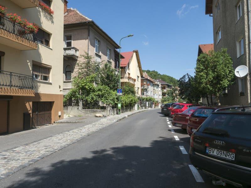 Major Ion Cranta street in Brasov, Romania royalty free stock image