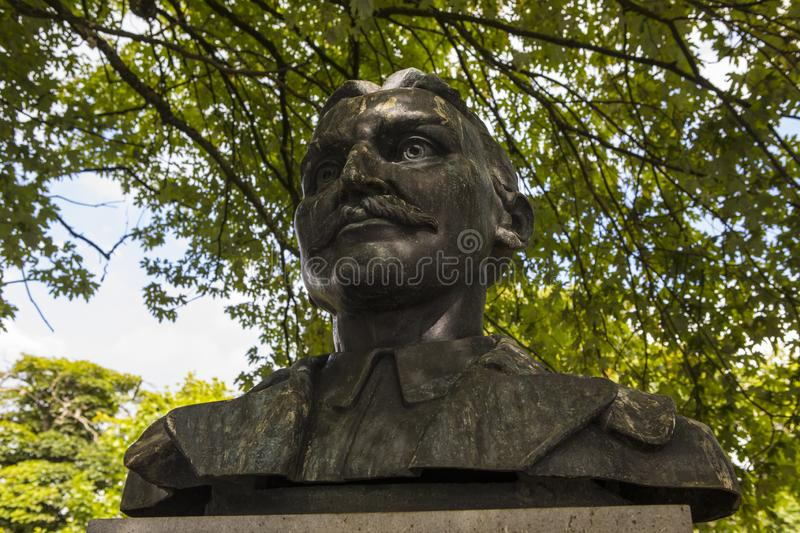 Major John MacBride Monument in Westport lizenzfreies stockfoto