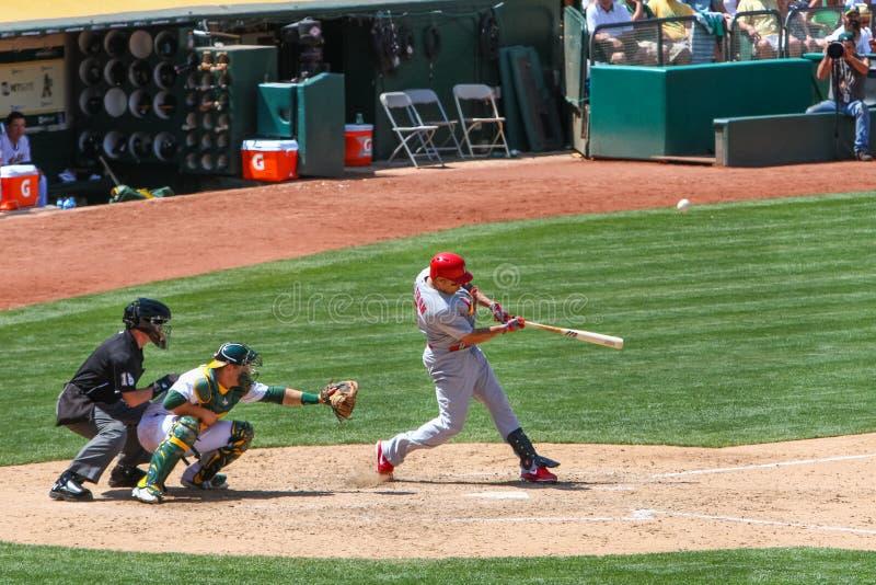 Major League Baseball - All Star Carlos Beltran Hits arkivfoto