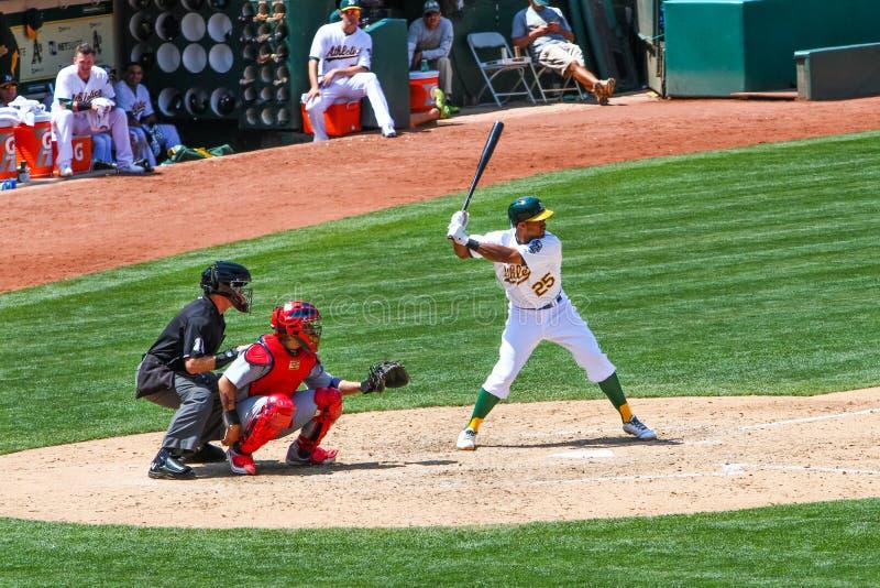 Major League Baseball - Beslag Chris Young royalty-vrije stock afbeelding