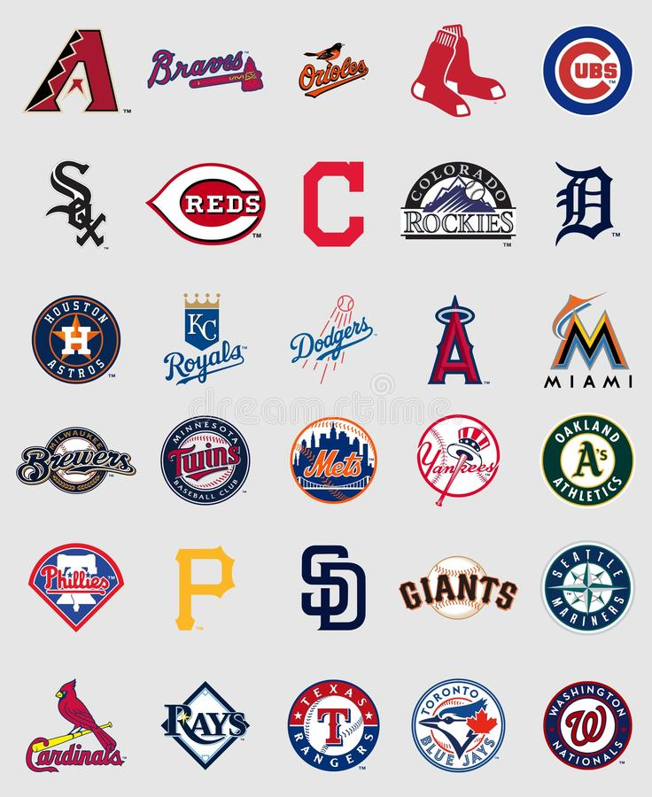 Major League Baseball logos vector illustration