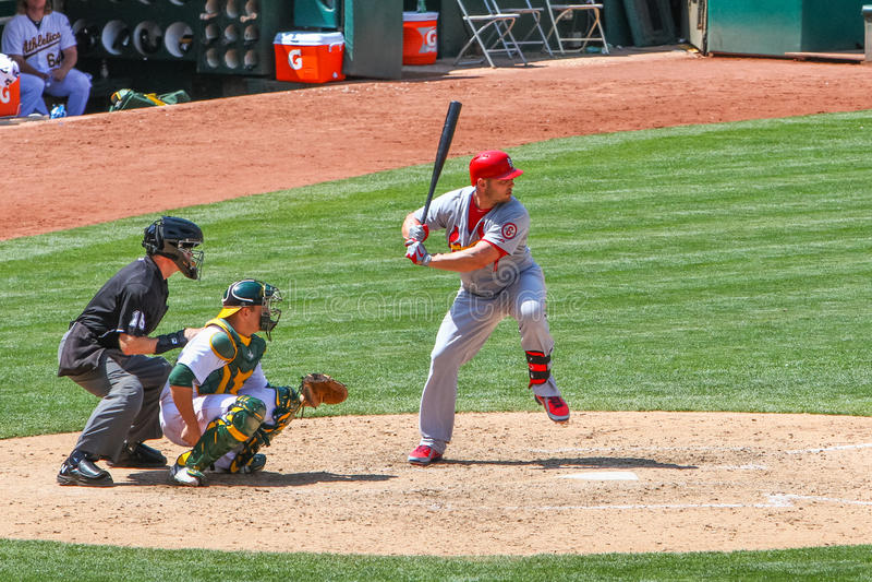 Major League Baseball - Matt Holliday Hitting arkivbild