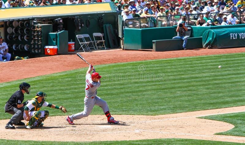 Major League Baseball - Matt Holliday Hitting i nolla fotografering för bildbyråer
