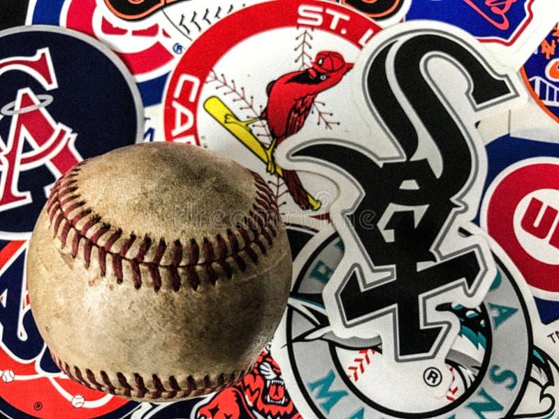 Major League Baseball Stickers arkivbild