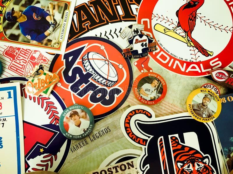 Major League Baseball Stickers arkivfoton