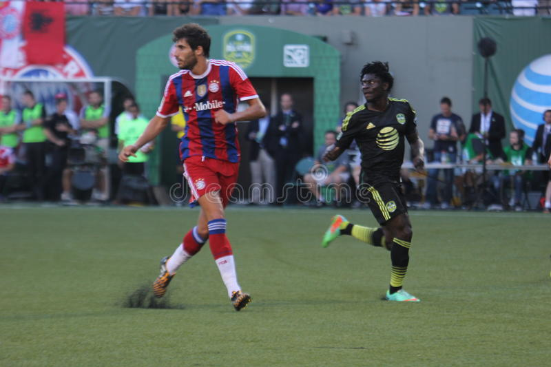 Major League Soccer All-Stars and FC Bayern Munchen. At Providonce Park stock photography