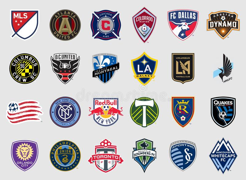 Major League Soccer teams logos. Vector high quality official logo collection of the Major League Soccer MLS teams. Best quality and highly detailed vector eps