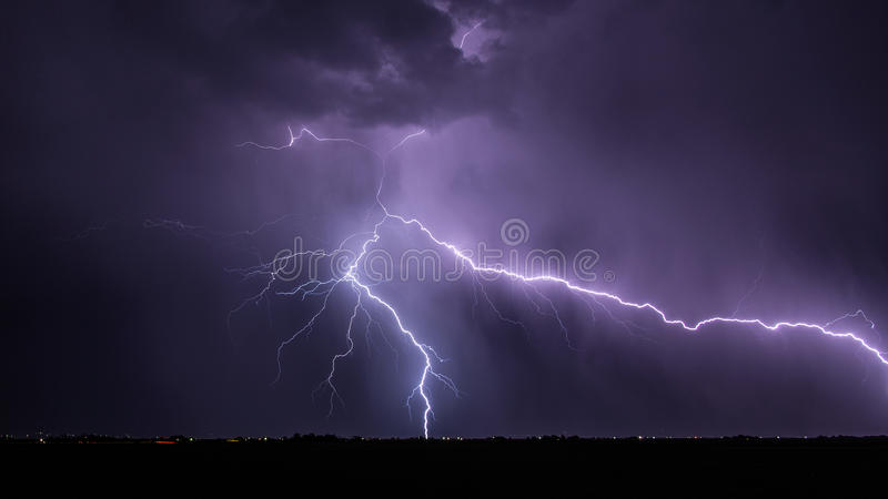 Major Lightning Strike fotografie stock libere da diritti