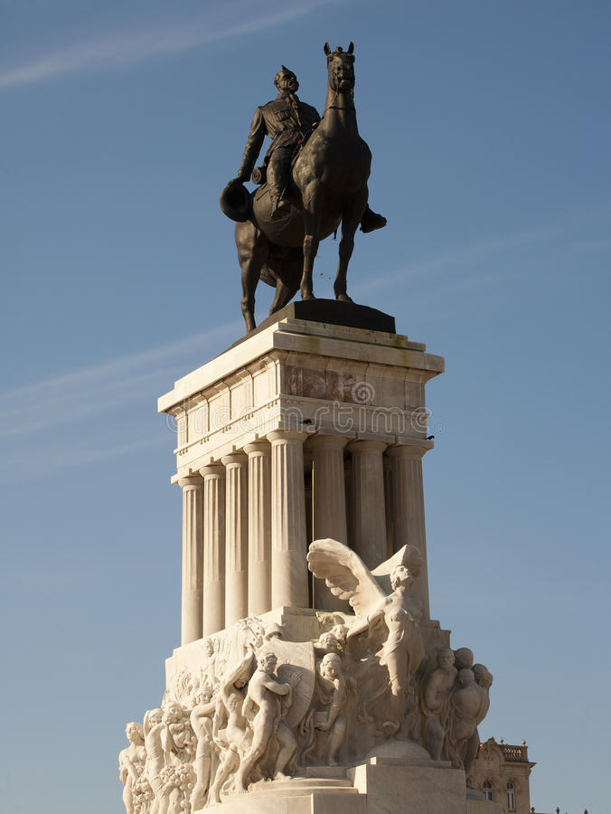 Major Maximo Gomez staty, havannacigarr, Kuba royaltyfri fotografi