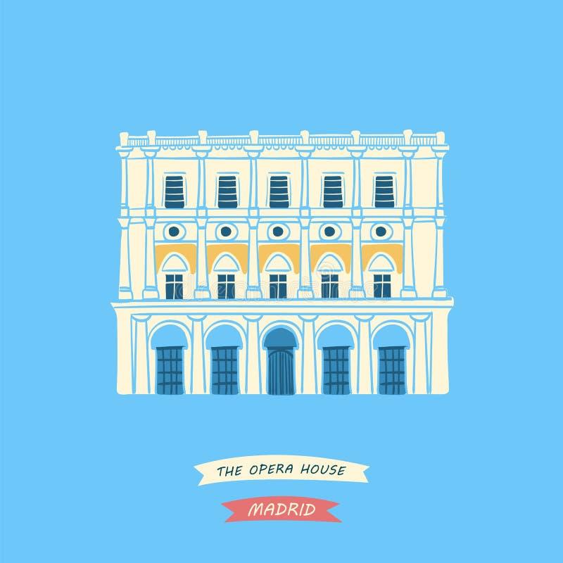 Major Opera House royaltyfri illustrationer