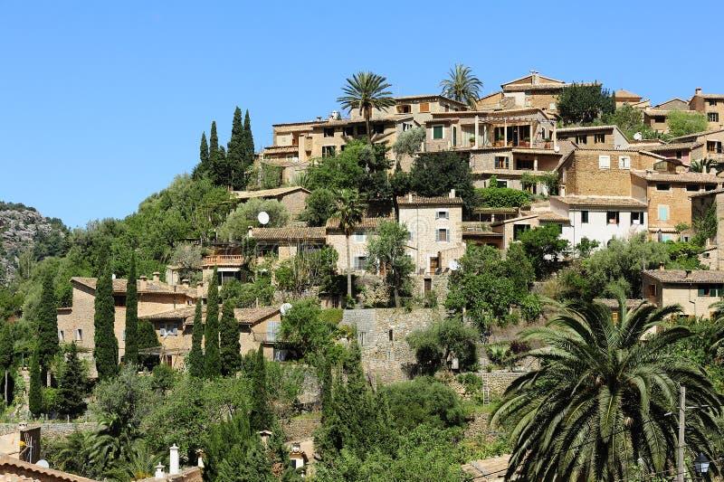 Majorca的,西班牙村庄Deia 库存照片