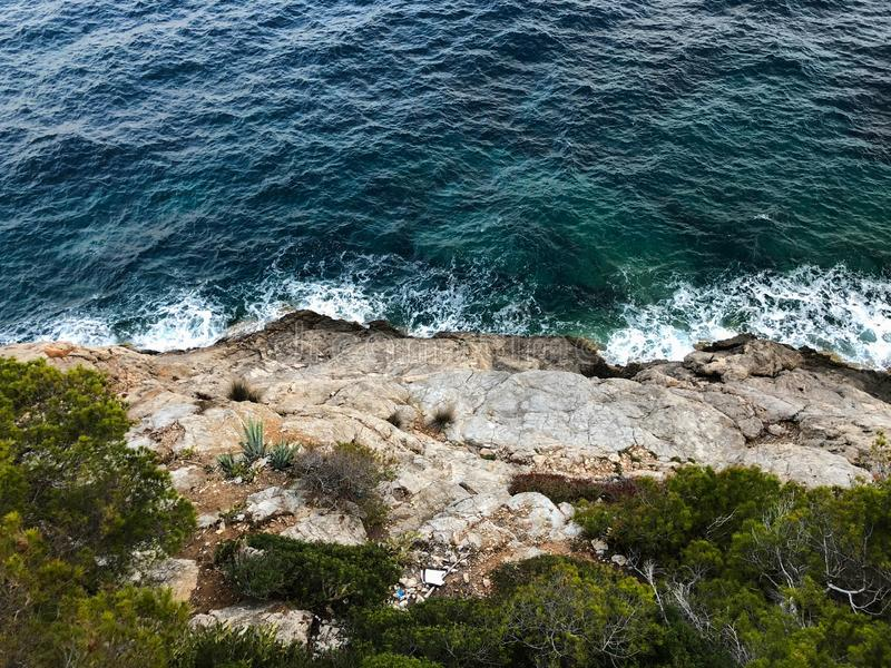Majorca Cala Bona marina portu syn Servera Mallorca w Balearic wyspach Spain obrazy stock