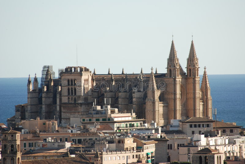 Majorca Cathedral royalty free stock photo