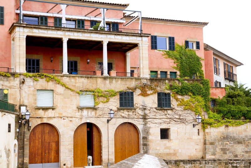 Majorca House Facades At Palma De Mallorca Stock Images