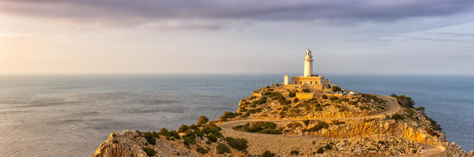 Majorca Mallorca Cap Formentor landscape panorama nature Mediterranean Sea Balearic Islands Spain copyspace travel. Copy space royalty free stock photo