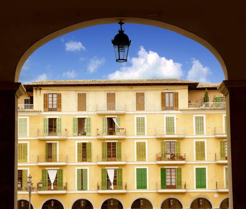 Majorca Plaza Mayor in Palma de Mallorca royalty free stock images