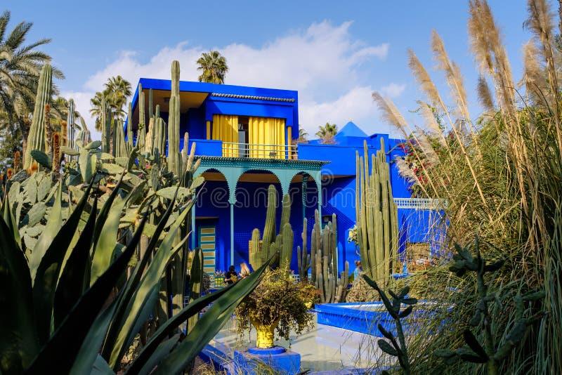 Majorelle-Garten in Marrakesch, Marokko stockfotos