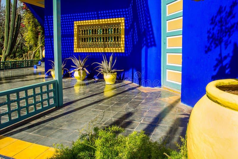 Majorelle ogr?d w Maroko obraz royalty free