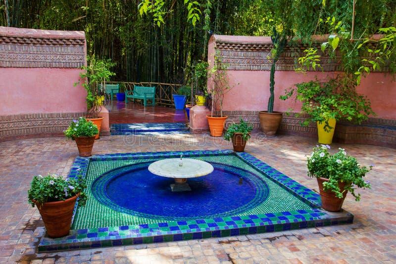 Majorelle ogr?d w Maroko fotografia stock
