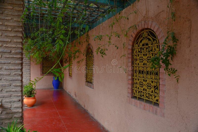Majorelletuinen in de stad van Marrakech in Morroco stock fotografie