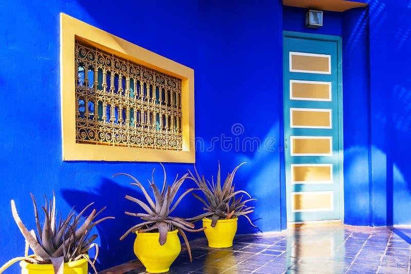 Majorelletuinen in Marrakech, Marokko royalty-vrije stock foto