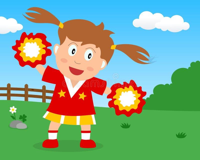 Majorette mignonne Girl en parc illustration libre de droits