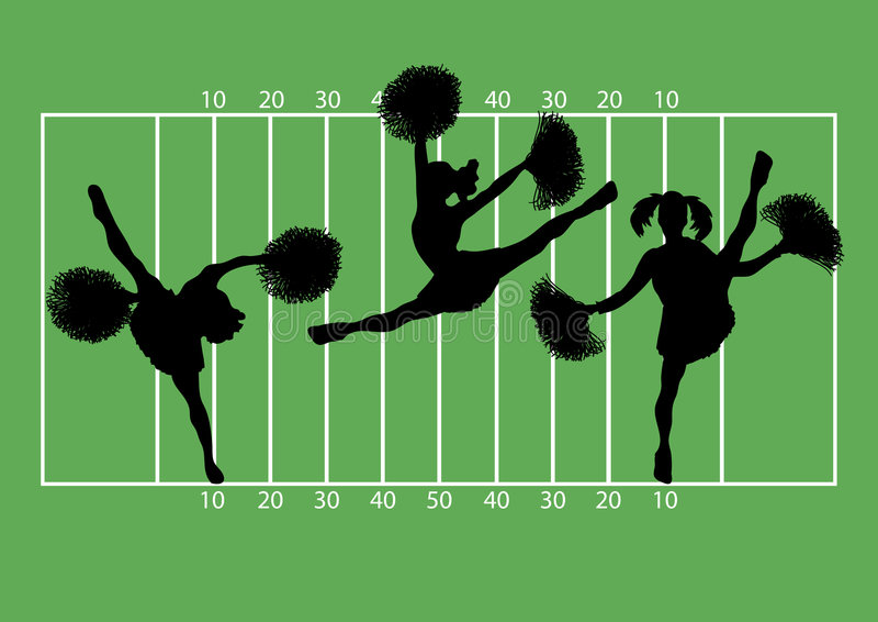 Majorettes 2 du football illustration stock