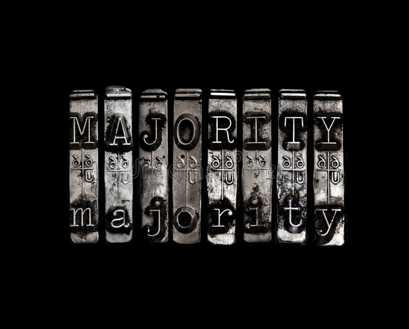 Majority concept royalty free stock image