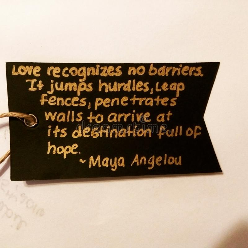 Majowia Angelou wycena obraz stock