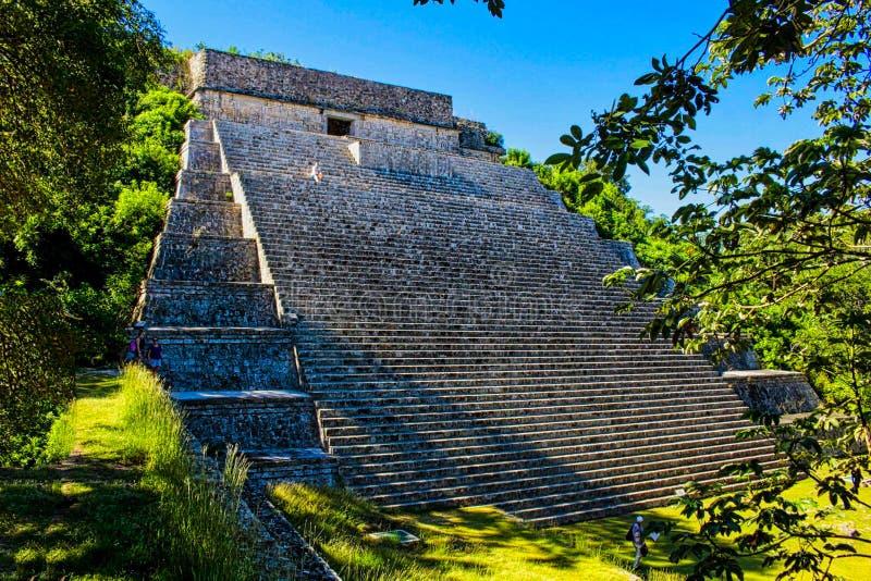 majowie świątyni ruiny w Yucatan obraz royalty free