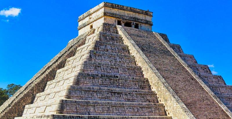 majowie świątyni ruiny w Yucatan zdjęcie stock