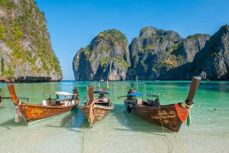 Majowie zatoka, Phi Phi wyspy zdjęcia royalty free