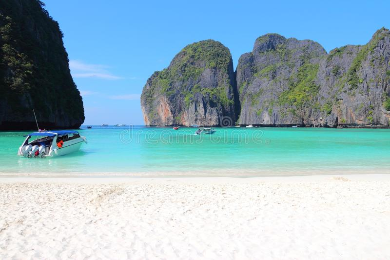 Majowie zatoka, Tajlandia fotografia royalty free