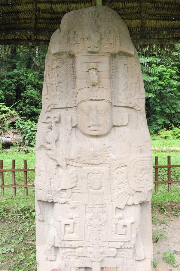 Majski archeologiczny miejsce Quirigua obraz royalty free